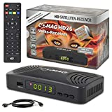 Comag HD25 Volks-Receiver + HDMI Kabel HDTV HD Satelliten Receiver Sat Schwarz + PVR Ready Aufnahme USB 2.0, DVB-S2, HDMI, SCART + HDMI EasyFind Easy Find 1080p Digital digitaler Satellitenreceiver