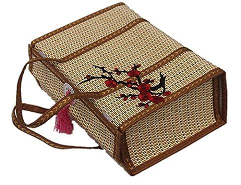 L'héritage Craft, faite à la main en bambou Panier, barbecue Bleu, Panier de pique-nique 2