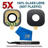 MMOBIEL 5er Pack Glass Linse für Samsung Galaxy S7 G930 / S7 Edge G935 Series Hauptkamera Back Kamera Glas Linse Ersatz Set + vorinstalliertem 3M doppelseitigem Klebepad + Pinzette + Mikrofaser Tuch