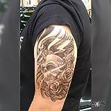 Tatuaggio Temporaneo Realistico di artista 'Skull Roses & Bird' - ArtWear Tattoo Skull - B0103 M