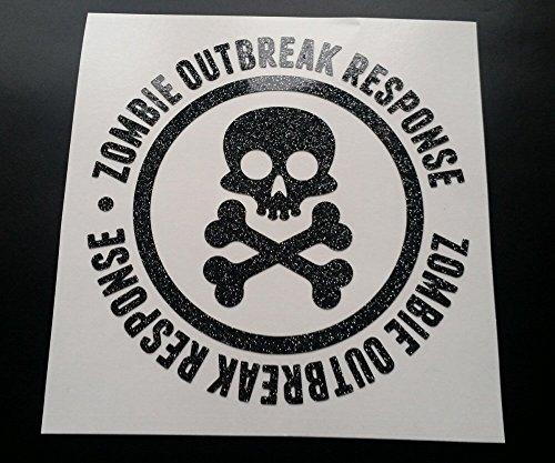 zombie-skull-outbreak-response-glitter-metal-flake-vinyl-car-sticker-decal-graphic-gold-glitter-300m