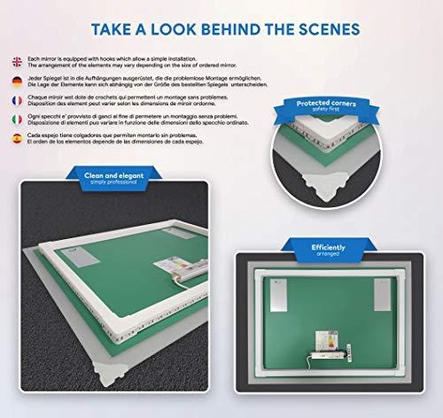 Badezimmerspiegel nach Maß mit LED Beleuchtung - 7
