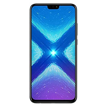 Honor 8X Dual SIM, 64 GB storage, 20 MP Dual Camera and 6.5 Inch Full View Display, UK Official Device - Black