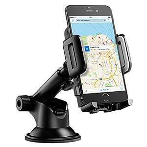 Mpow Porta Auto Cellulare Culla Regolabile per Cruscotto Dashboard Parabrezza, Porta Auto Cellulare con Forte Sticky, Gel Pad, Supporto Auto per iPhone 7 7 plus 6s Plus 6s 6 Plus 6 5s 5c 5 4s, Samsung Galaxy S6 Edge + S6 S5 S4 S3, Note 4 3 2, Sony, Huawei - Grigio