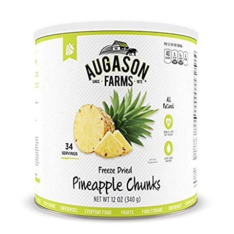 Augason Farms Freeze Dried Pineapple Chunks #10 Can, 12 oz by Augason Farms