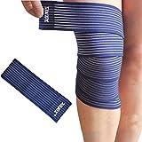 Zantec Verstellbare Kniebandage Unterstützung Hohe Elastizität Kompression Wrap Bandage für Wade Oberschenkel Unterstützung