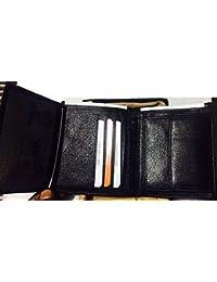 Delhitraderss -Genuine Leather Black Rego Wallet For Men,Mens Wallet, Men Purse,Mens Purse