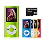 mymahdi–Digital, compacto y portátil MP3/MP4reproductor (Max apoyo 64GB Micro SD Card) con visor de fotos, e-book lector y grabadora de voz y radio FM VIDEO Movie en verde