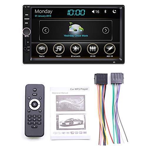 Asdomo MP5-Player fürs Auto, Multimedia, Video- und Audio-Stereo-Radio, HD-Touchscreen, Digitalanzeige, Bluetooth, USB, FM (Stereo-video-player-bluetooth Auto)