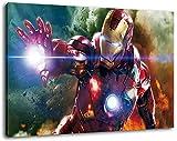 Marvel Helden Format 80x60 cm Bild auf Leinwand, XXL riesige Bilder fertig gerahmt mit Keilrahmen, Kunstdruck auf Wandbild mit Rahmen