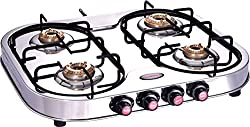 Sunflower Oval Stainless Steel Four Burner Gas Stove