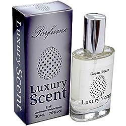 Ocean Breeze Eau de parfum frais Ambre Parfum floral de qualité premium 30ml Spray longue durée Sensational Parfum Unisexe avec pochette cadeau en velours Noir