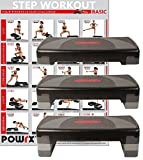 Steppbrett Home Aerobic XL Premium inkl. Workout Fitness Step Stepper