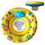 Lnvision Baby Schwimmsitz Kleinkinder Schwimmreifen Schwimme Ring Für 0-3 Jahre Alt (Gelb)