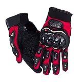 HOMEIDOL Motorrad Handschuhe, Motorradhandschuhe Touchscreen Sport Vollfinger Handschuhe für Motorrad Radfahren Camping Outdoor (XL, Rot)