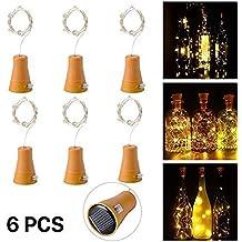 6pcs 10 LED Solar Botella de Vino de Corcho Luz de Hadas con Cable de Cobre de 1 m Forma de la Lámpara de la Barra para la Botella de Bricolaje, Fiesta, ...