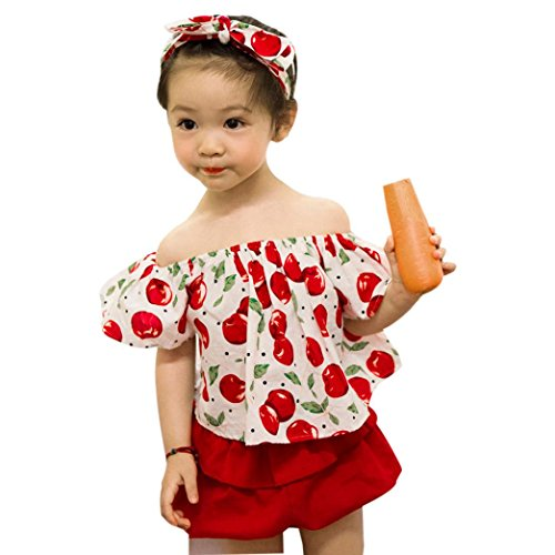 ZIYOU Cutely Baby Mädchen Blumendruck Kleidung Romper Set Shorts Pants Outfits (3T) (Velour Pant Krone)