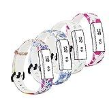 Fit-power Ersatz-Armband für Fitbit-Alta-Armbänder und Alta-HR-Armbänder. Verstellbares Ersatzsportarmband für Fitnessarmbänder für die Fitbit-Alta- und Alta-HR-Smart-Uhr, Pack of 4B, Large