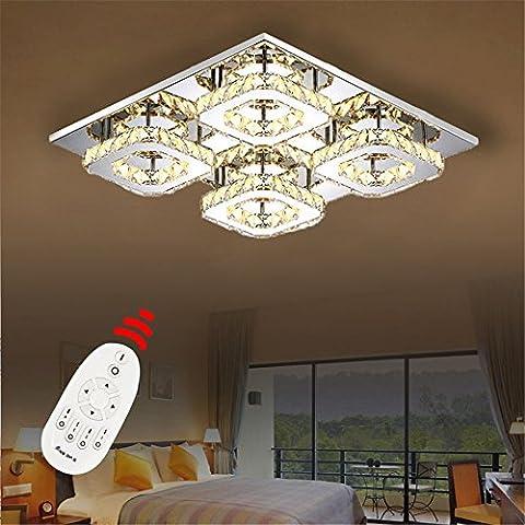 48W LED Kristall Design Hängelampe Deckenlampe Pendelleuchte Kreative Kronleuchter Dimmbar Lüster (D Type Dimmbar)