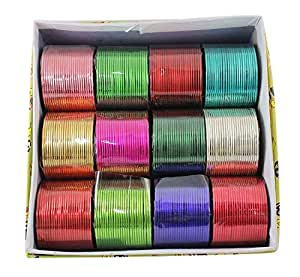 MUCH MORE Multi-Colour Metal Bangle Set For Girls