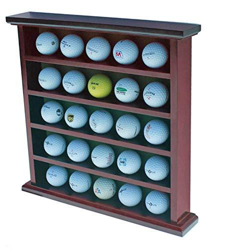 displaygifts Golf Ball Display Fall Wand Rack Schrank, Ohne Tür, GB25(Mahagoni-Finish)