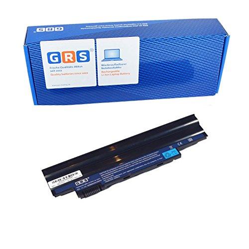 GRS Notebook Akku für Acer Aspire one 360, 522, 722, AOD255, D257, D260, Aspire one happy, ersetzt: AL10B31, AL10A31, AL10G31, AK.003BT.071, AK.006BT.074, ICR17/65L, C.BTP00.12L, C.BTP00.128, Laptop Batterie 4400mAh, 11.1V (Bildschirm Acer Aspire One 722)