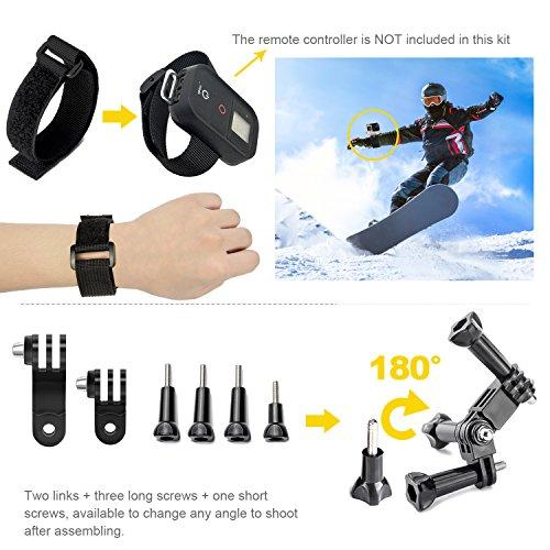 Kit-accessori-Gopro-LUSCREAL-Set-di-pacchetti-per-videocamere-per-videocamere-allaperto-per-Gopro-Hero-5-Session-4-3-3-2-1-SJ4000-SJ5000-SJ6000-Xiaomi-Yi-DBPOWER-AKASO-APEMAN-WiMiUS-Sony-Sports-DV