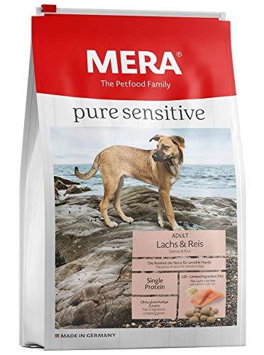 MERA pure sensitive Adult Lachs und Reis Hundefutter – Trockenfutter für die tägliche Ernährung nahrungssensibler Hunde