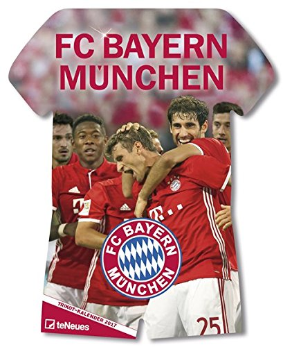 Preisvergleich Produktbild FC Bayern Trikotkalender 2018 - Bayern Kalender, Fankalender Fußball, Fußball Kalender, FC Bayern München Kalender - 34 x 42 cm
