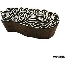 Indio Decorativos Madera Textil Bloque Patrón Floral Estampado Étnico Estampado En Tela Handcarved Crafting Papel Tapiz Tatuaje