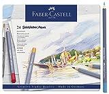 FaberCastell 114624 Faber-Castell Aquarellstifte Goldfaber, 24er Metalletui