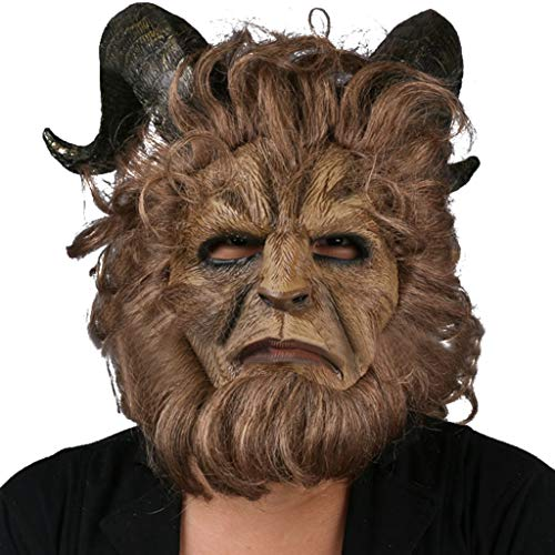 Liabb Beast Mask Cosplay Masken Die Schöne und das Biest Live Version Mask Hood Cosplay Halloween Prince Mask,A,Within55~62CM