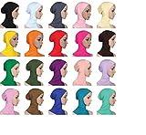 F-eshion Kopftuch Hijab Maxi Schal Groß Übergröße Einfarbig Baumwolle Schlauch islam schal