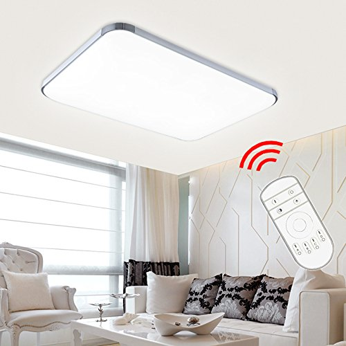 VINGO® 48W LED Deckenleuchte Deckenlampe Badlampe Leuchte mit Fernbedienung Schlafzimmer Dimmbar