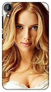 Crazy Beta Hollywood Actress Printed Back Cover For H T C Desire 825