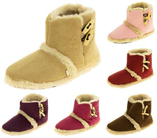 Femmes Coolers chaude hiver faux fourrure doublé bottes à glissière