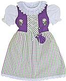 Schrammel Kinderdirndl mit Beutelchen und Unterrock Violett-Apfelgrün (74-80, Lila-Apfelgrün)