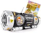 Stereo Musik Anlage tragbar Kinder CD Player Mädchen Jungen Radio im Set inklusive Winnie Pooh Sticker