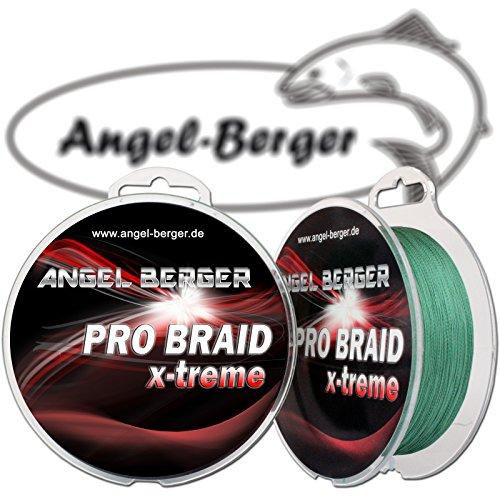 Angel-Berger Pro Braid x-treme geflochtene Schnur (135m dark green, 0,20mm)