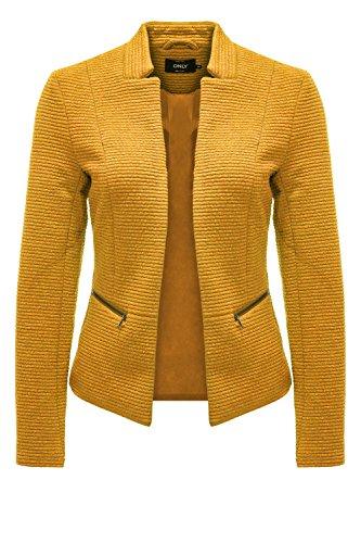 ONLY Damen Blazer Anzugjacke Businessjacke Anzug Kostüm Sakko Jackett (XS, Golden Yellow)