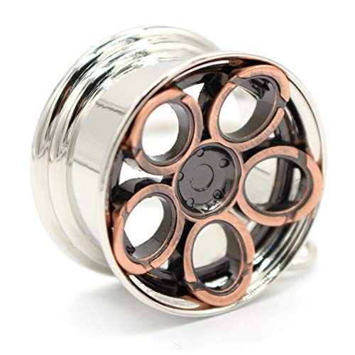 VmG-Store Elipsenfelge Schlüsselanhänger Felge Metall Anhänger (Kupfer)