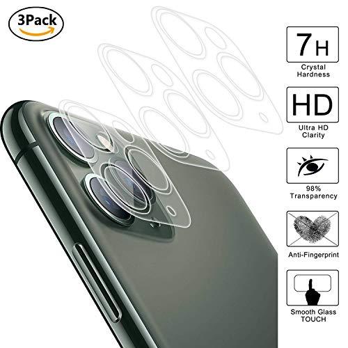 guran [3 pezzi posteriore fotocamera lens film per iphone 11 pro smartphone copertura completa 7h durezza hd lente camera cornice pellicola protettiva
