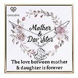 Chiclove Conjunto de Collar de Madre e Hija - Conjunto de mamá y yo de Oro - Joyería de mamá e Hija