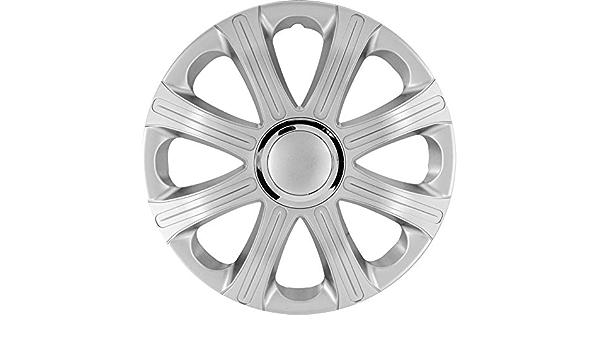 J Tec J13595 Satz Radzierblenden Modena 13 Zoll Silber Chrom Ringe Auto