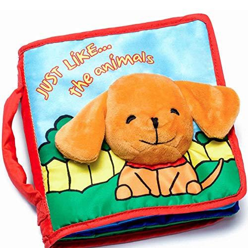 ToBeReadyForLife STOFFBUCH Geschenk für Baby, Babybuch, Fühlbuch für Babys, 1 Jahr alt & Kleinkind, Pädagogisches Babyspielzeug für Jungen & Mädchen, Kinderwagen Spielzeug, Geschenkbox für Baby