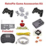 Venel Electronic Component,Raspberry Pi 3 RetroPie Game Accessories Kit,Pre-installed emulators: Nintendo NES, NEOGEO, MAME, GAMEBOY, SEGA,SUPER NINTENDO and so on.