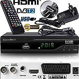 Strom 505 H.265 Empfänger unterstützt die neueste H.265 Standard.Strom 505 ist ein sehr einfaches Gerät zu bedienen und zu installieren.Schließen Sie einfach die Antenne und das HDMI-Kabel an ein Fernsehgerät an um hohe Qualität von Bild und Ton zu g...