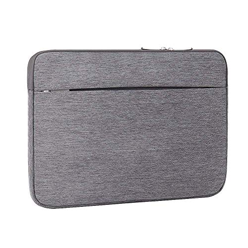 Laptoptasche, Laptophülle 2 in 1 stoßfest Notebooktasche Laptop Schutzhülle Notebook Tasche PC Laptop Schutztasche Macbook Acer Asus Dell Fujitsu Lenovo HP Toshiba 13-13,3 Zoll Dunkel Grau