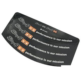Stage610Inch Wheel Rim Stickers, Black