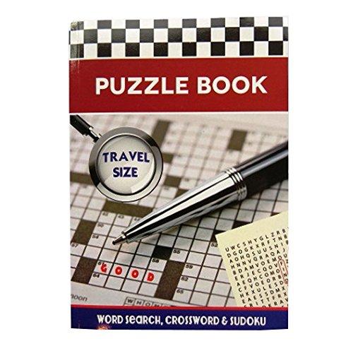 A5 Englisch Rätselbuch - Reisegröße - 192 Seiten - Wort-Suche, Kreuzworträtsel und Sudoku